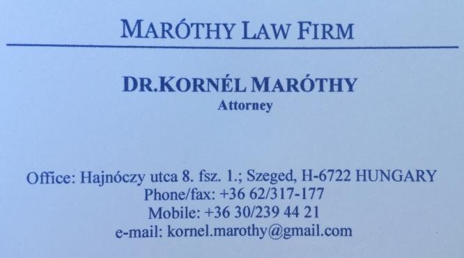 Dr. Kornél Maróthy üGyvéd