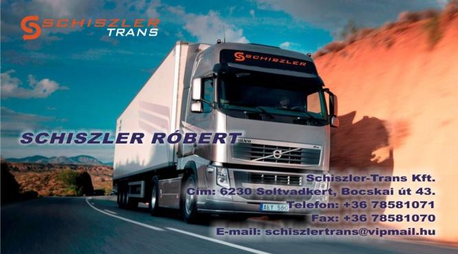 Szállítmányozás Európa Schiszler Trans Kft. Schiszler Róbert