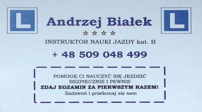 Andrzej Bialek Instruktor Nauki Jazdy