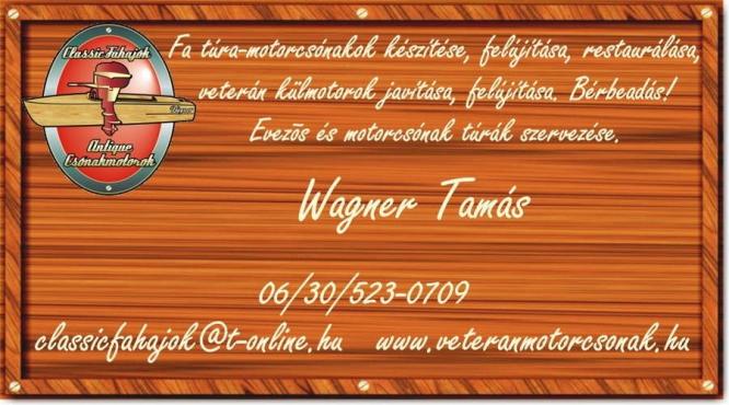 Veterán Motorcsónak - Wagner Tamás