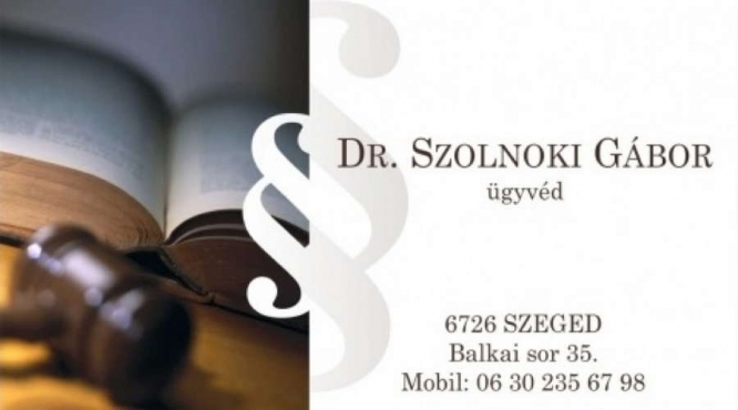 Dr. Szolnoki Gábor ügyvéd
