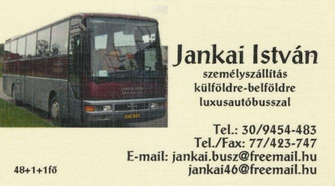 Jankai István autóbusz utaztatás