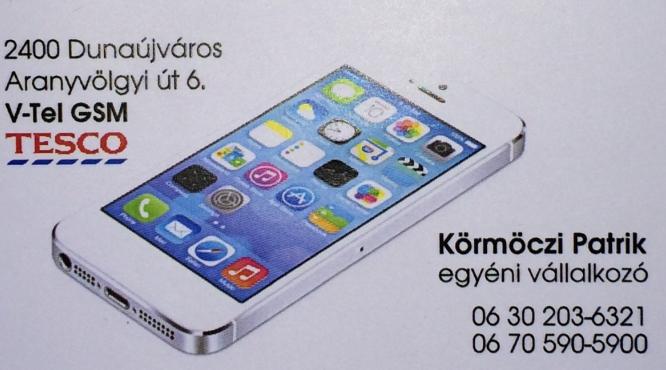 V-TEL GSM TESCO MOBILTELEFON  BOLT DUNAÚJVÁROS