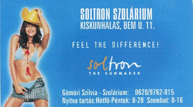 Soltron Solárium Kiskunhalas. Sétáló utca