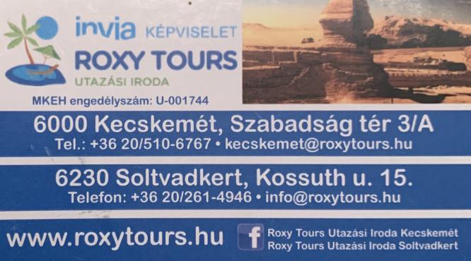 INVIA KÉPVISELET KECSKEMÉT ROXY TOURS UTAZÁSI IRODA