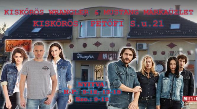 WRANGLER - MUSTANG DIVAT SZALON KISKŐRÖS