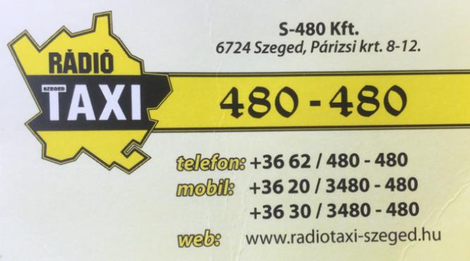 Szeged Rádiótaxi 06 62 480 480