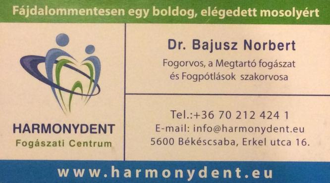Fogorvos, a Megtartó fogászat és a Fogpótlások szakorvosa Dr. Bajusz Nórbert
