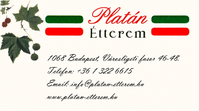 Platán Étterem Budapest