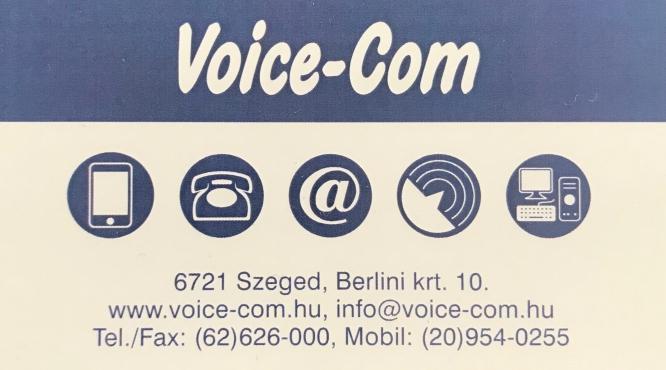 VOICECOM - VONALAS TELEFON JAVÍTÁS - SZÁMÍTÓGÉPES HÁLÓZATOK - SZEGED
