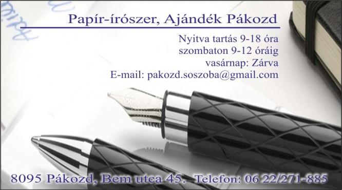 Papír-írószer, Ajándék- és Rövidáru bolt Pákozd