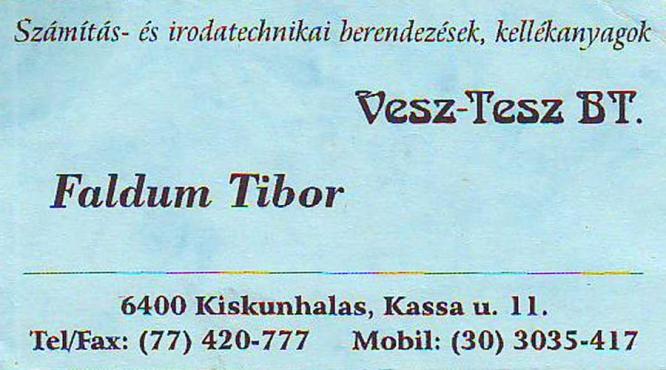 Faldum Tibor papír írószer kereskedelem