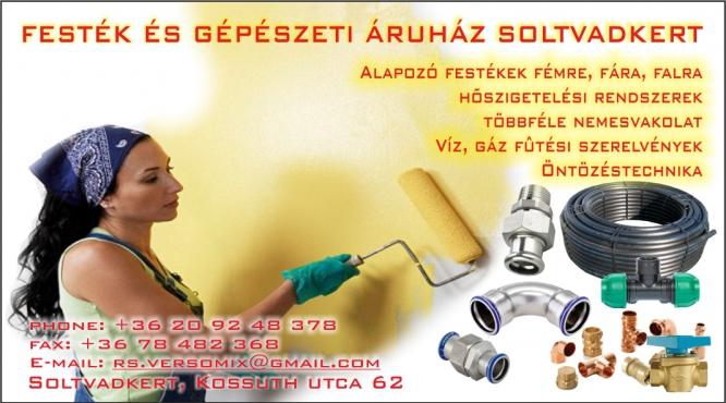 Festék és Gépészeti Áruház Soltvadkert Rácz Sándor