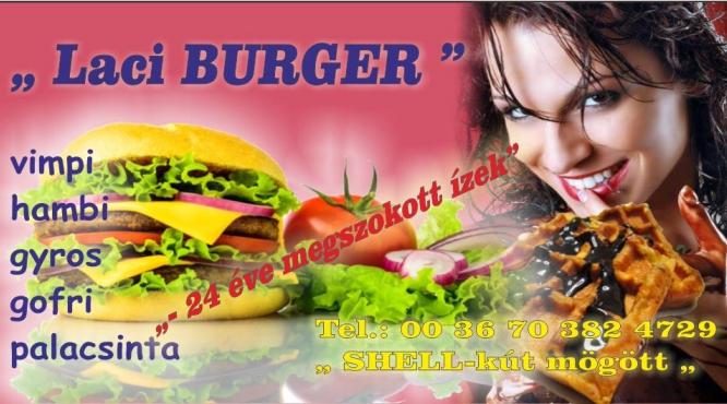 """Hamburger Kiskunhalas """" Laci burger"""""""