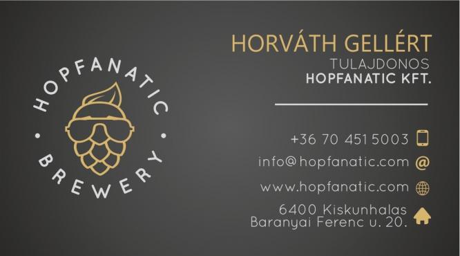 KISÜZEMI SÖRFŐZDE HOPFANATIC DOUBLE IPA MILK ATOUT HORVÁTH GELLÉRT KISKUNHALAS