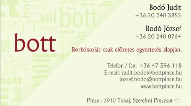 "Bodo Judit ""bott"" pincészet Tokaj -Hegyalja"