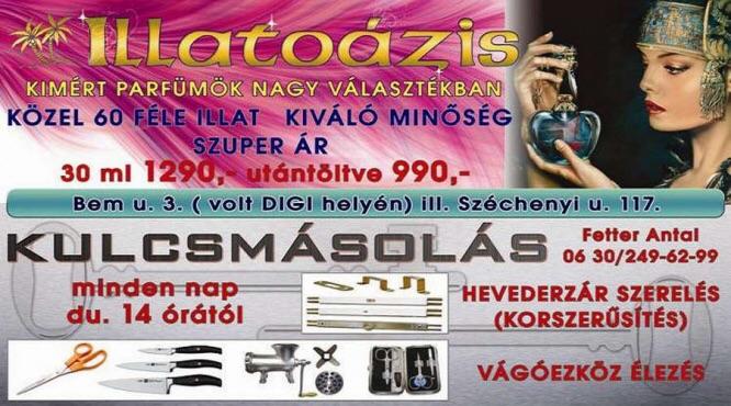Fetter Antal Kulcskuckó Illatoázis Kulcsmásoló