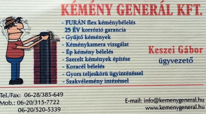 Kémény Generál Kft Keszei Gábor