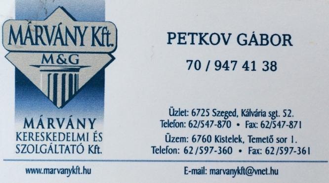 MÁRVÁNY Kft. PETKOV GÁBOR