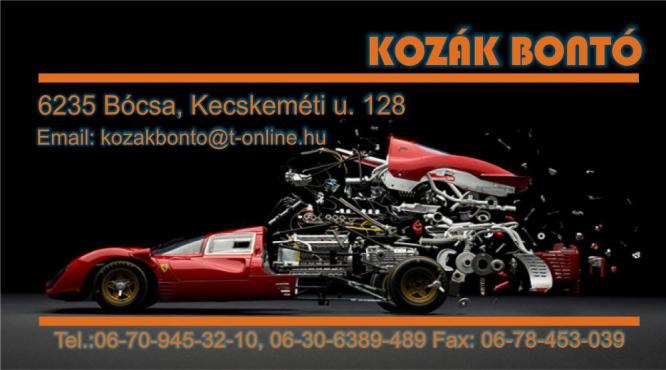 AUTÓBONTÓ BÓCSA Kozák Autóbontó Kft.