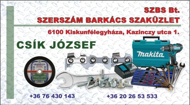 SZERSZÁM BARKÁCS CSAVAR SZAKÜZLET -SZBS Bt Csík József
