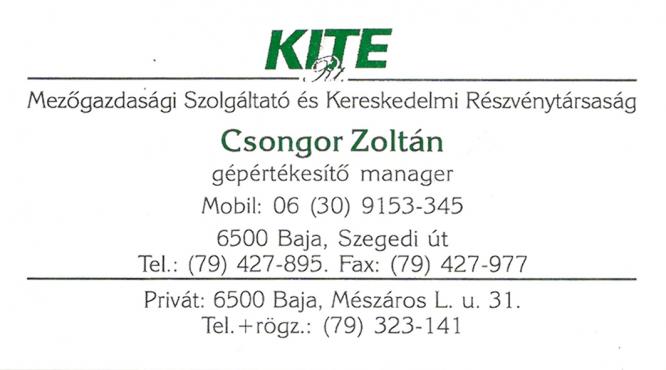 KITE Kft. Csongor Zoltán