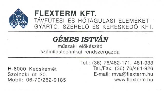 Flexterm Kft. Gémes István