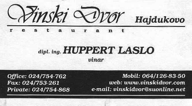Huppert Laslo