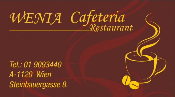 Wenia Cafeteria & Restaurant Wien Steinbauergasse 8