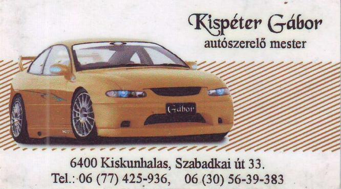 Kispéter Gábor Autószerelő