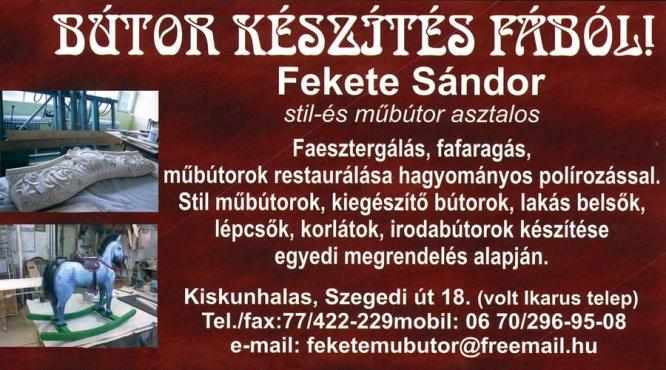 Fekete Sándor Stil és Műbútor Asztalos