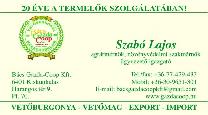 BÁCS GAZDA-COOP Kft. Kiskunhalas
