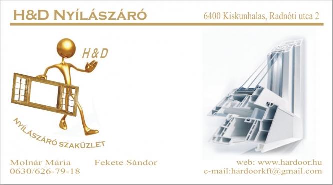 H&D Nyílászáró Molnár Mária Kiskunhalas