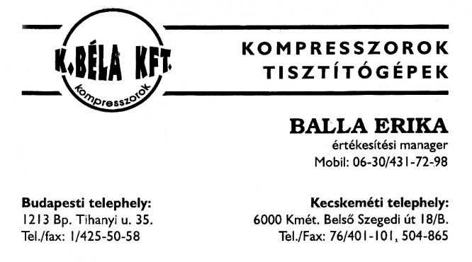 Balla Erika K.Béla KFT.