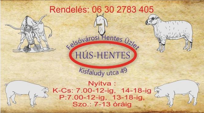 FELSŐVÁROSI HENTES ÜZLET