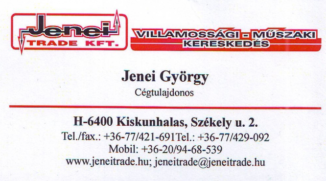 Jenei Trade Kft. Villamossági Műszaki Kereskedés