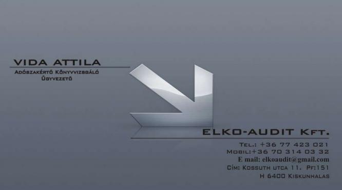 ELKO-AUDIT Kft. Vida Attila accountant, auditor