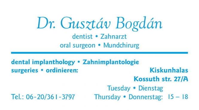 Dr.Bogdan Gusztáv fogszakorvos dentist