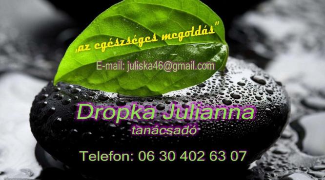 Az egészséges megoldás önnek Dropka Julianna